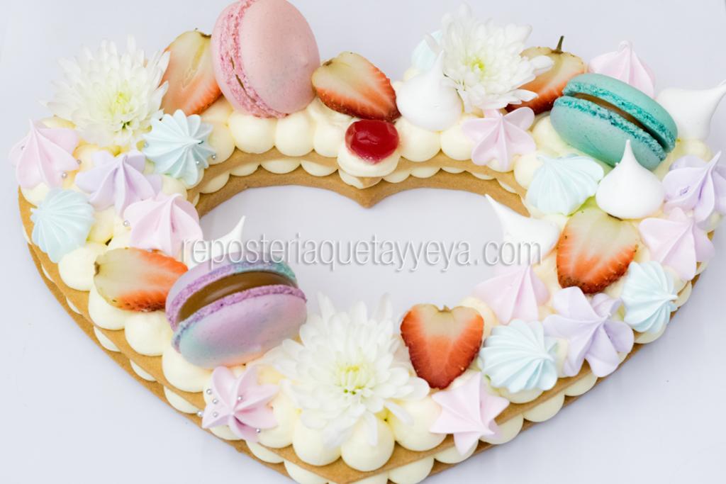 tarta corazón grande