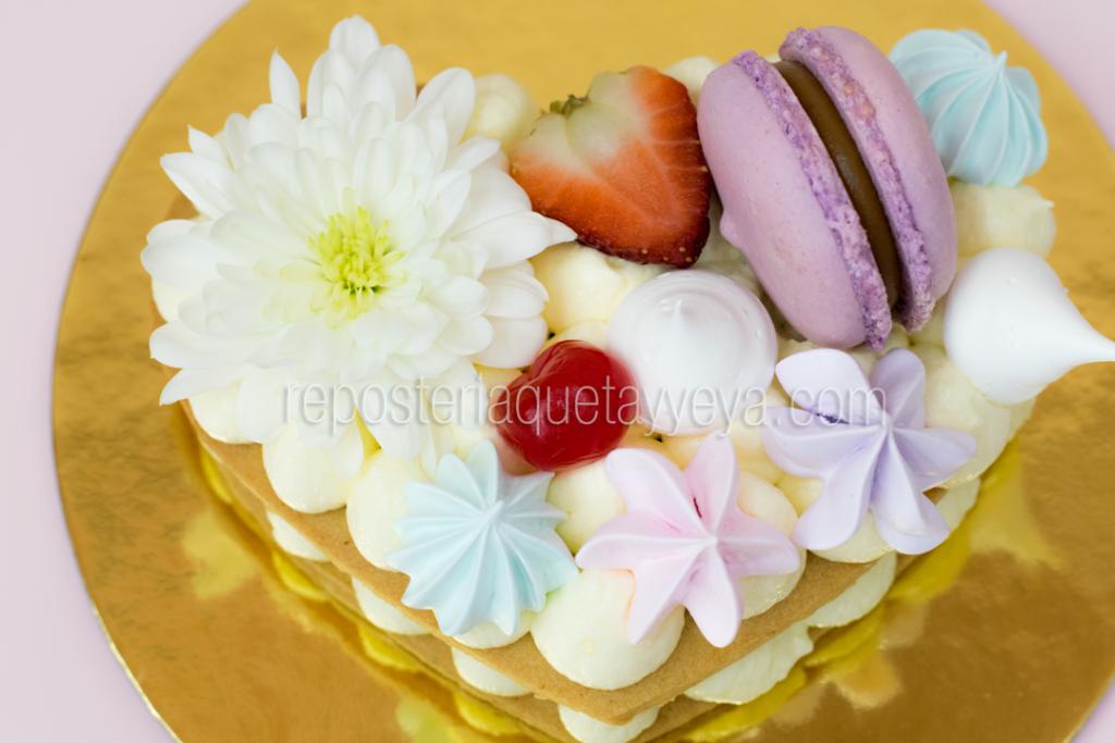 tarta corazón pequeña