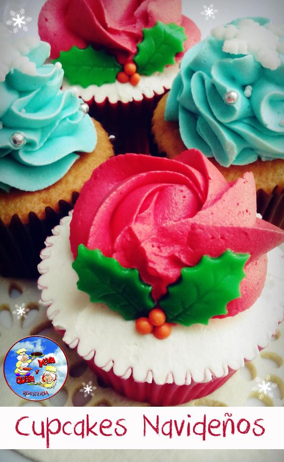 Cupcake Navideno Crema Reposteria Queta Y Yeyareposteria Queta Y Yeya