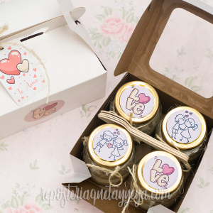 Cajita Love mini tortas