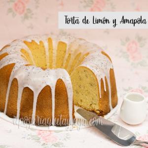 Torta de limón y amapola