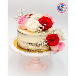 seminaked cake flores