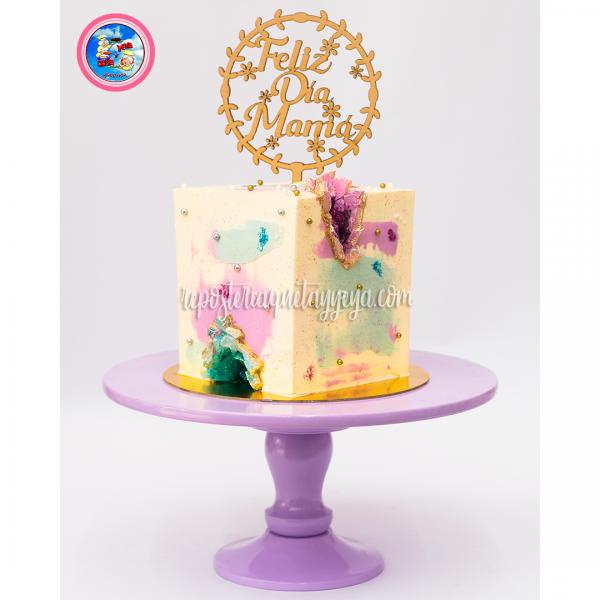 Geode square cake