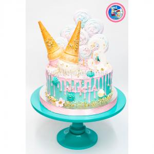 Dripcake helados y merengue