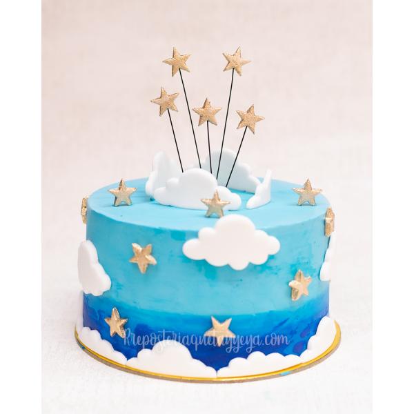 Torta Nubes y Estrellas