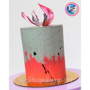 Concrete efect cake